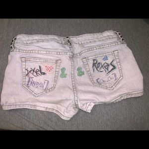 City Streets graffiti shorts